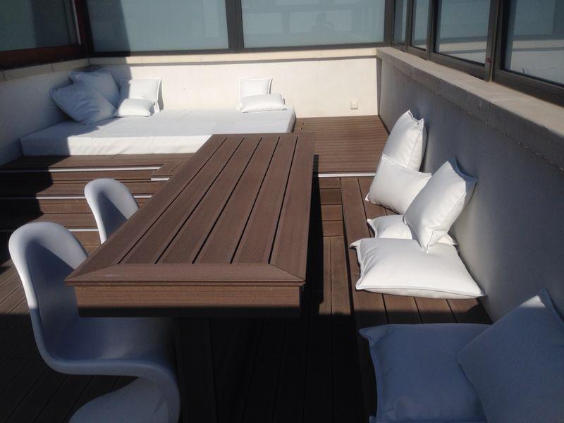 mobiliario en madera tecnol gica para exteriores bancos wpc