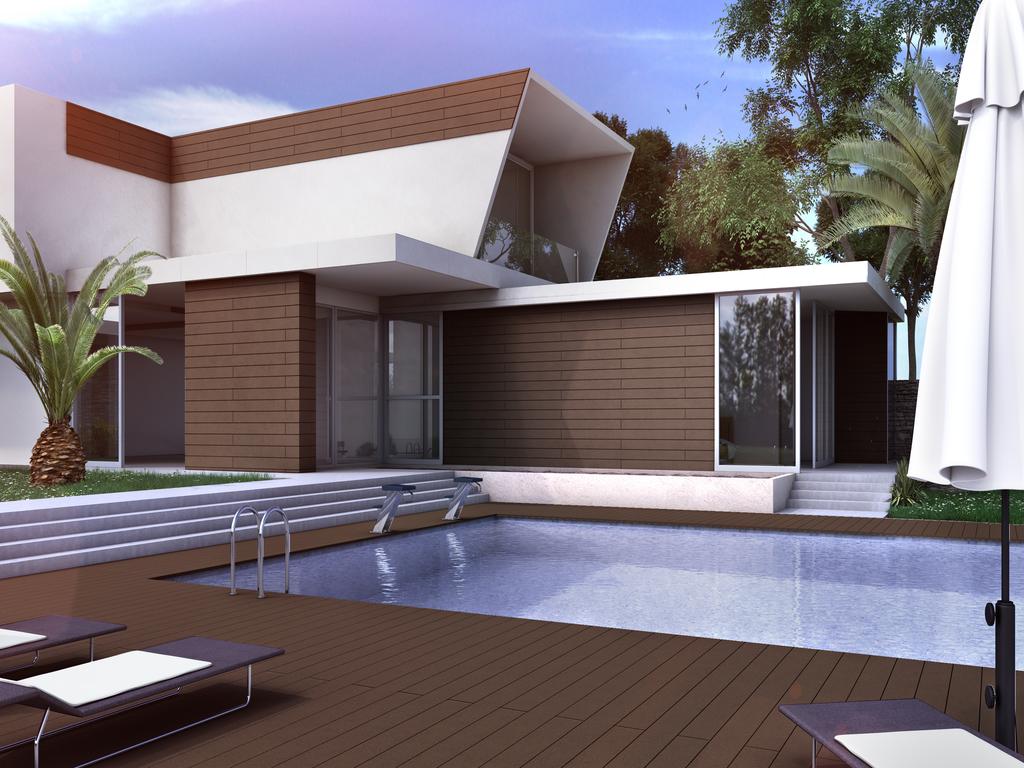 Maderas para fachadas top panel de madera para fachada - Paneles de madera para exterior ...